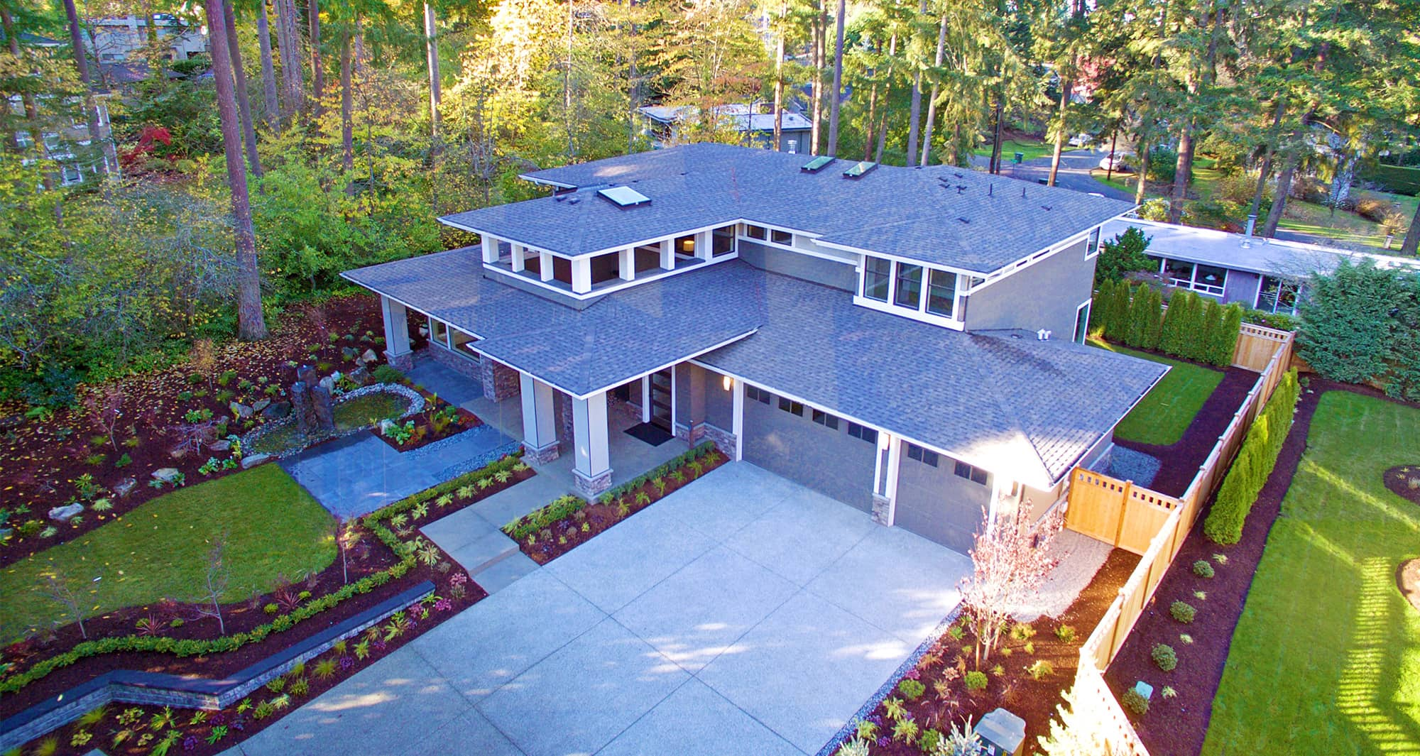 Large House Aerial View